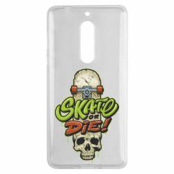 Чохол для Nokia 5 Skate or die skull - FatLine