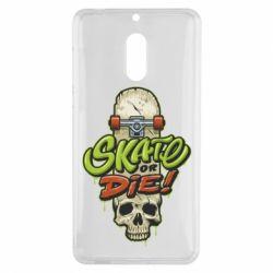 Чохол для Nokia 6 Skate or die skull - FatLine