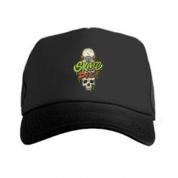 Кепка-тракер Skate or die skull