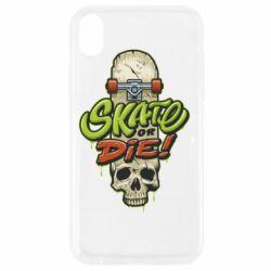 Чохол для iPhone XR Skate or die skull
