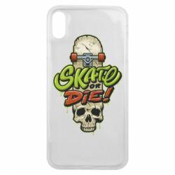 Чохол для iPhone Xs Max Skate or die skull
