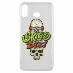 Чохол для Samsung A6s Skate or die skull