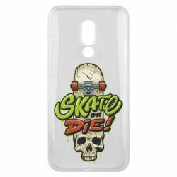 Чохол для Meizu 16x Skate or die skull - FatLine