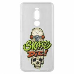 Чохол для Meizu Note 8 Skate or die skull - FatLine
