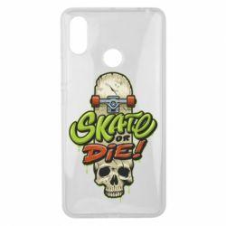 Чохол для Xiaomi Mi Max 3 Skate or die skull