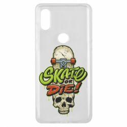 Чохол для Xiaomi Mi Mix 3 Skate or die skull