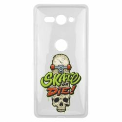 Чохол для Sony Xperia XZ2 Compact Skate or die skull - FatLine