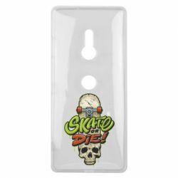 Чохол для Sony Xperia XZ3 Skate or die skull - FatLine