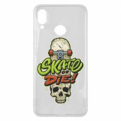 Чохол для Huawei P Smart Plus Skate or die skull - FatLine