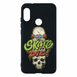 Чохол для Mi A2 Lite Skate or die skull - FatLine