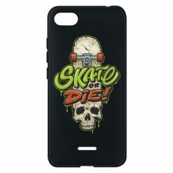 Чохол для Xiaomi Redmi 6A Skate or die skull - FatLine
