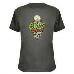 Камуфляжна футболка Skate or die skull