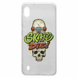 Чохол для Samsung A10 Skate or die skull