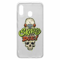 Чохол для Samsung A20 Skate or die skull