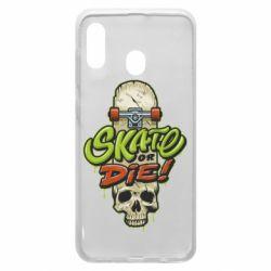 Чохол для Samsung A30 Skate or die skull