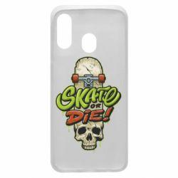 Чохол для Samsung A40 Skate or die skull