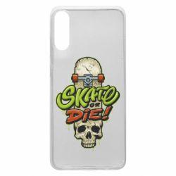 Чохол для Samsung A70 Skate or die skull