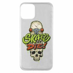 Чохол для iPhone 11 Skate or die skull