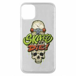 Чохол для iPhone 11 Pro Skate or die skull