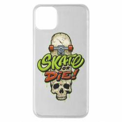 Чохол для iPhone 11 Pro Max Skate or die skull