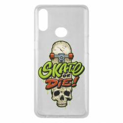 Чохол для Samsung A10s Skate or die skull