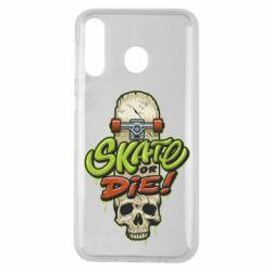 Чохол для Samsung M30 Skate or die skull