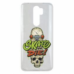 Чохол для Xiaomi Redmi Note 8 Pro Skate or die skull