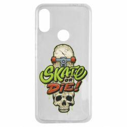 Чохол для Xiaomi Redmi Note 7 Skate or die skull