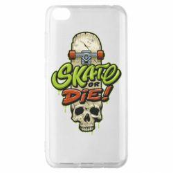Чохол для Xiaomi Redmi Go Skate or die skull