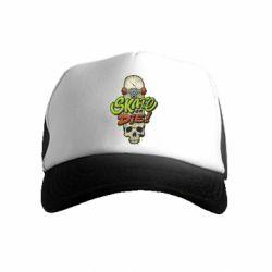 Дитяча кепка-тракер Skate or die skull