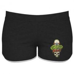 Жіночі шорти Skate or die skull