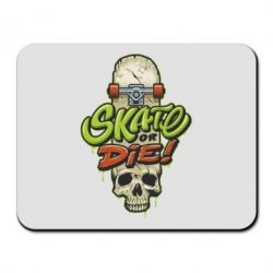 Килимок для миші Skate or die skull