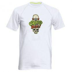 Чоловіча спортивна футболка Skate or die skull