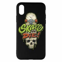Чохол для iPhone X/Xs Skate or die skull