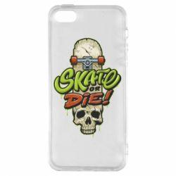 Чохол для iphone 5/5S/SE Skate or die skull