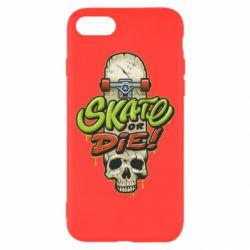 Чохол для iPhone 8 Skate or die skull