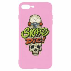 Чохол для iPhone 8 Plus Skate or die skull