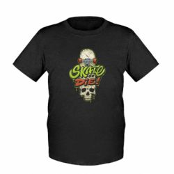 Дитяча футболка Skate or die skull