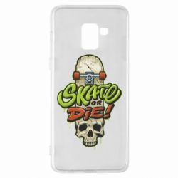 Чохол для Samsung A8+ 2018 Skate or die skull