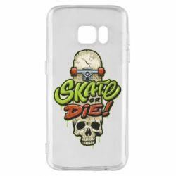 Чохол для Samsung S7 Skate or die skull