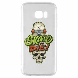 Чохол для Samsung S7 EDGE Skate or die skull