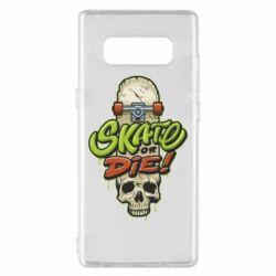 Чохол для Samsung Note 8 Skate or die skull