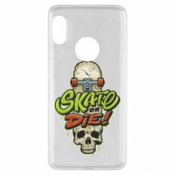 Чохол для Xiaomi Redmi Note 5 Skate or die skull