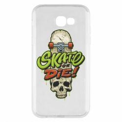 Чохол для Samsung A7 2017 Skate or die skull