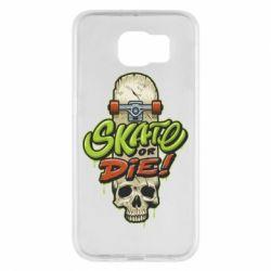 Чохол для Samsung S6 Skate or die skull