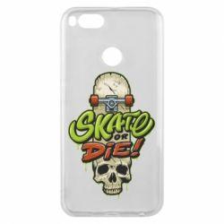 Чохол для Xiaomi Mi A1 Skate or die skull