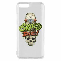 Чохол для Xiaomi Mi6 Skate or die skull