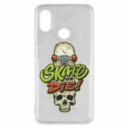 Чохол для Xiaomi Mi8 Skate or die skull