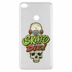 Чохол для Xiaomi Mi Max 2 Skate or die skull