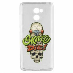 Чохол для Xiaomi Redmi 4 Skate or die skull - FatLine
